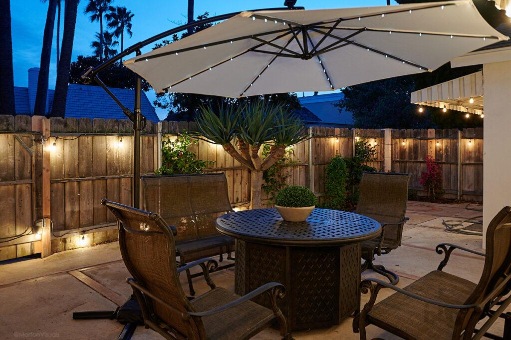 patio twilight